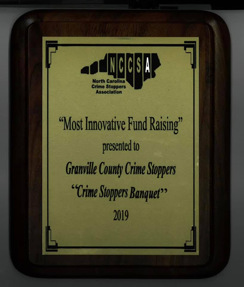 2019 Granville County Crime Stoppers Awards
